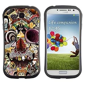 Paccase / Suave TPU GEL Caso Carcasa de Protección Funda para - Monkey Circus Clown Skull Crazy Mind - Samsung Galaxy S4 I9500