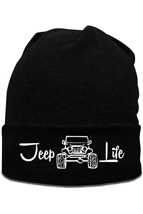 Hand Jeep Life Wool Cap Skull Caps Unisex Winter Deep Heather