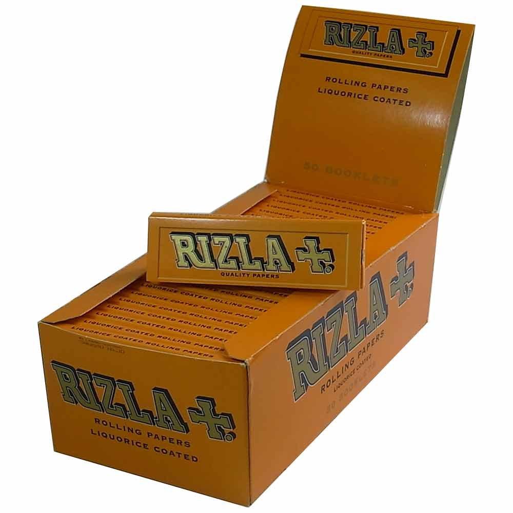 Rizla Rolling Paper 50 Books Per Box - Liquorice Coated