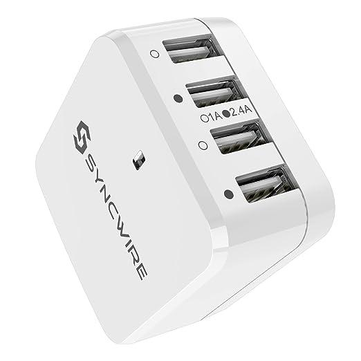 749 opinioni per Syncwire Caricabatterie USB da Muro 6.8A/34W con adattatori UK UE USA- Garanzia