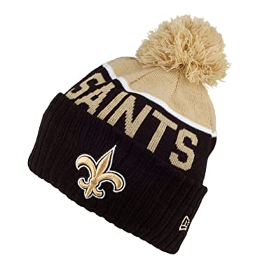 quality design adbe1 77ee8 New Era New Orleans Saints Bobble Hat - NFL Sport Knit - Black-Gold Black