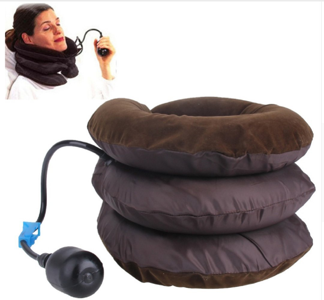 Neck Traction Inflatable Soft Cervical Collar Brace for Headaches Back Shoulder Pain Relief