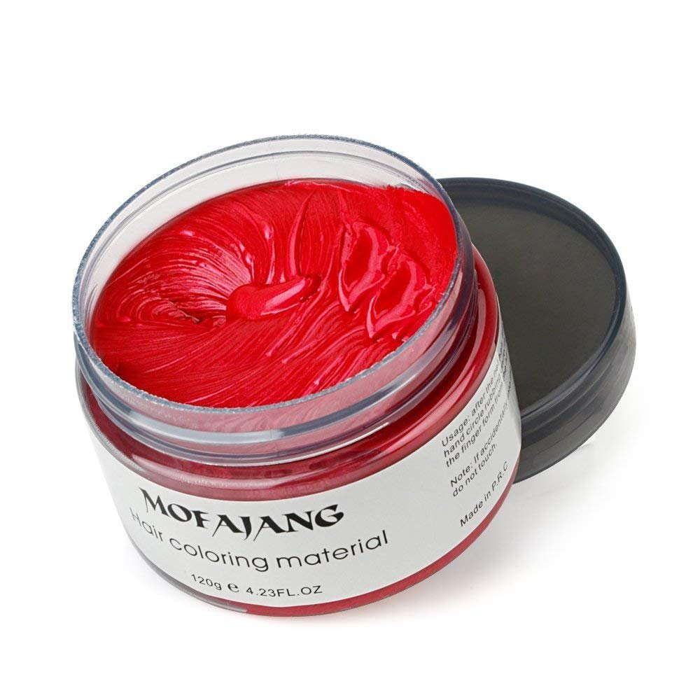 Mofajang Natural Hair Wax Color Styling Cream Mud Hairstyle Spider Pomade Dye Temporary 423