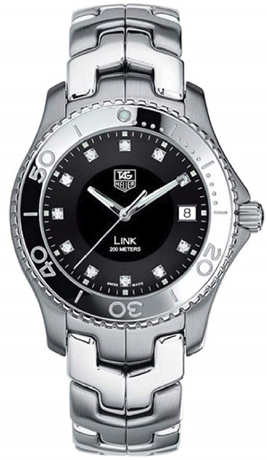 TAG Heuer Mens WJ1113.BA0575 Link Diamond Accented Quartz Bracelet Watch