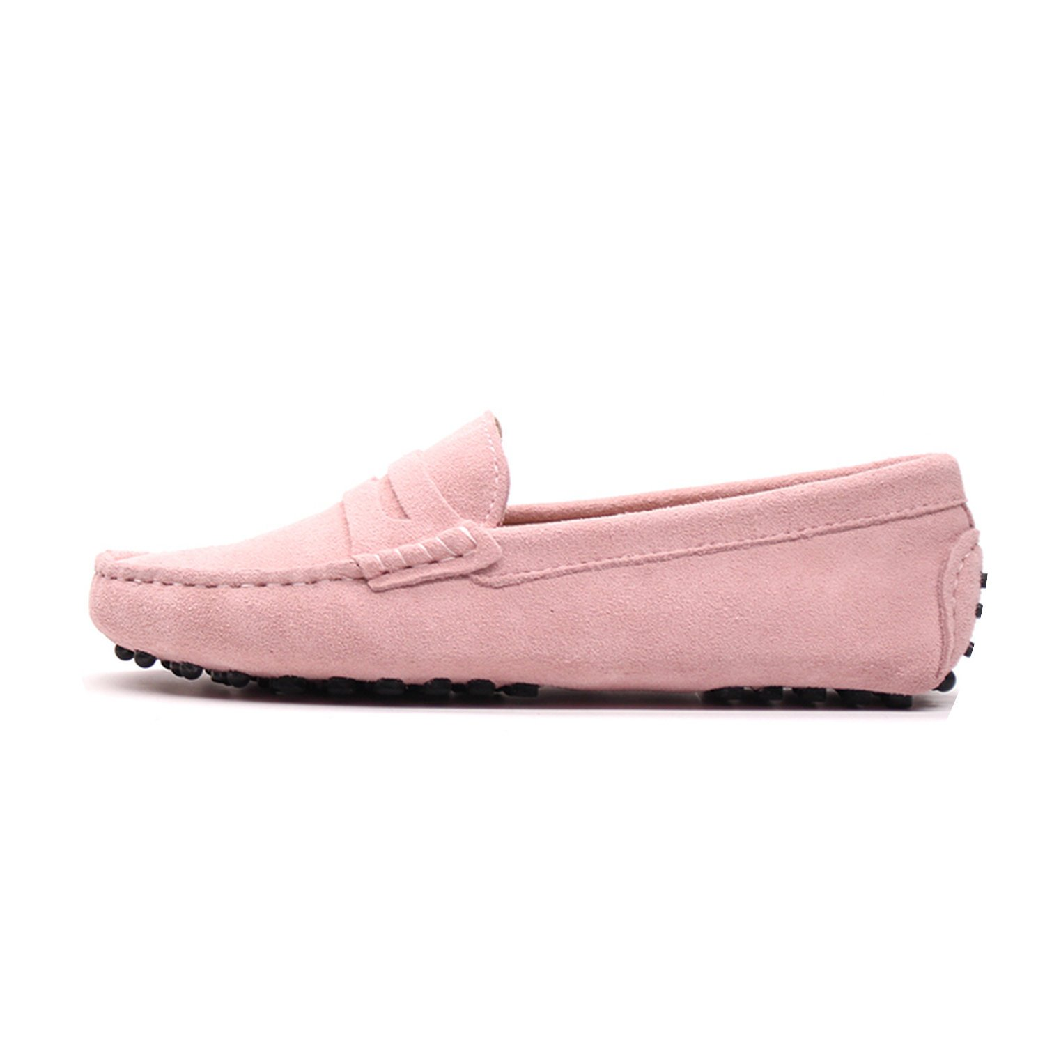 2018 New Women Flats Genuine Leather Driving Shoes Summer Women Casual Shoes B07DV5GRKB 6 B(M) US|Pink
