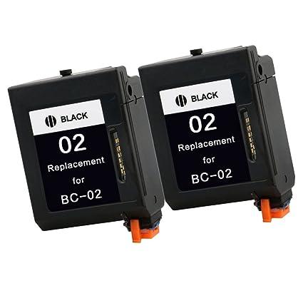 Teng® - 2 Cartuchos de Tinta compatibles con Canon BC-02, para ...