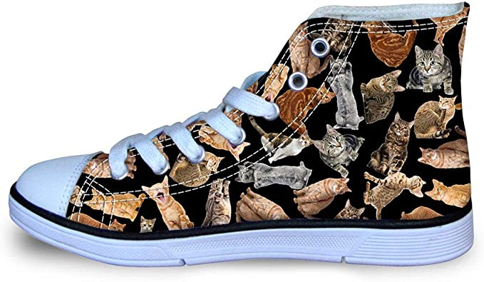Canvas Stylish Flat Sneaker Boys Girls Lace Up Casual Durable Walking Shoes Low-side