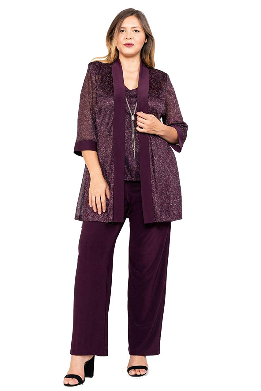 57c1e29a5a R M Richards Pant Suit Mother of The Bride Plus Size at Amazon Women s  Clothing store