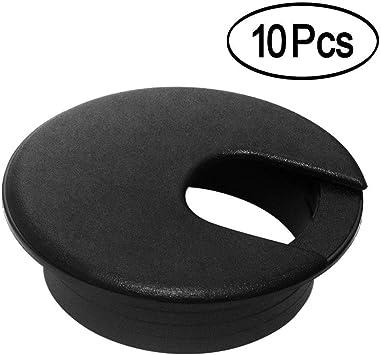 2 Inch Black Desk Grommet Plastic Wire Organizer Computer Desk Ca... 12 Pack
