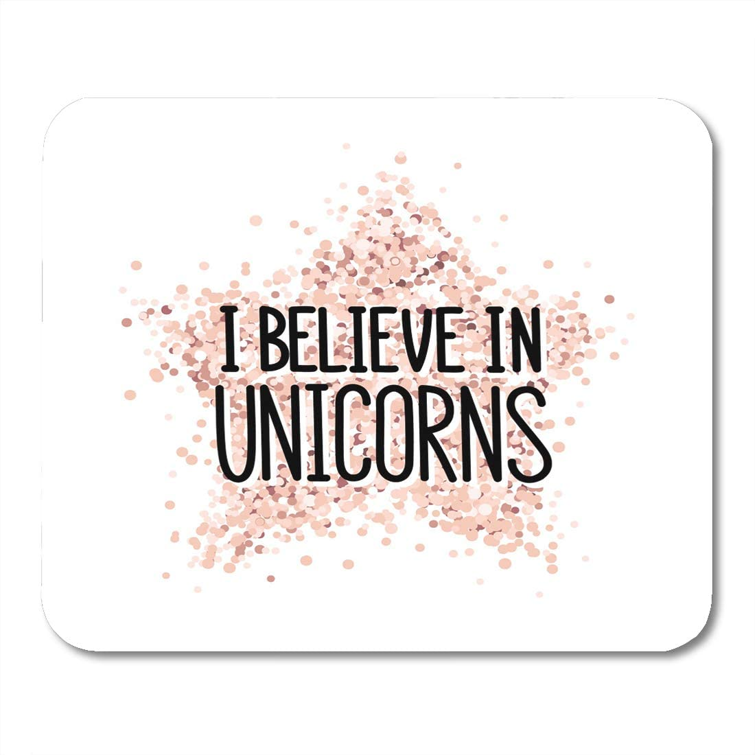 Rose Gold The Unicorns Made Me Quote Mouse Mat Pad