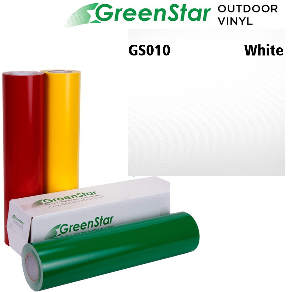 50YD x 24in Sign Vinyl for Graphics, Lettering, Self Adhesive, Gloss, GreenStar - White