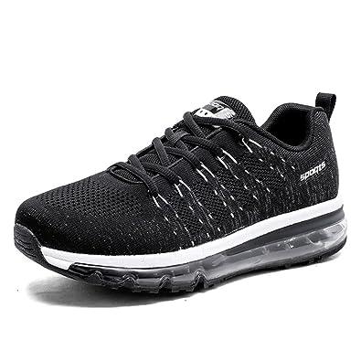TORISKY Herren Damen Sportschuhe Laufschuhe Sneaker Air Profilsohle Running Leichte Schuhe 35-46EU(067-BK35) ahenK