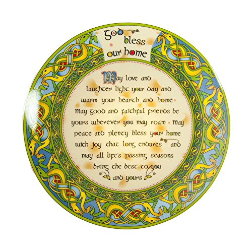 (Irish Decorative Plate God Bless Our Home 8