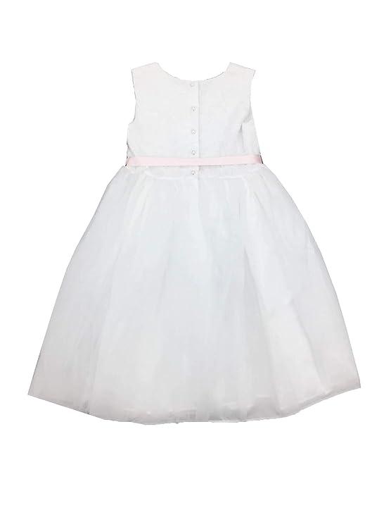 3d20bd1c7 Amazon.com: Bella by Marmellata Girls Ballerina Flower Girl Dress White 14:  Clothing