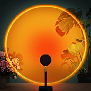 Sunset Lamp Projector, USB Night Light, 180 Degree Rotation Sunset Projection Lamp, Romantic Led Floor Light for Home Decor, Living Room, Bedroom, Best Wedding, Birthday, Party, Festival Gift