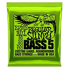 The world's #1 electric bass strings. For over 50 years, Ernie Ball Slinky electric guitar strings have been the favorite of musicians across the globe, Ernie Ball's signature recipe consists of specific gauges and core to wrap ratios for bal...