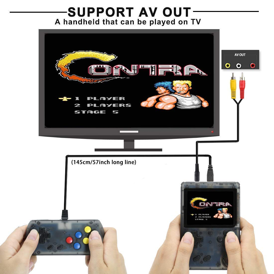 BAORUITENG Handheld Game Console, Retro FC Game Console,Video Game Console with 3 Inch 168 Classic Games (Plus) by BAORUITENG (Image #5)
