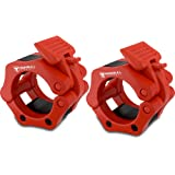 """Barbell Collars (Pair) –Locking 2"""" Olympic Size Weight Clamps - Quick Release Collar Clips – Bar Clamps Great for Crossfit, Olympic Lifts and Strength Training"""
