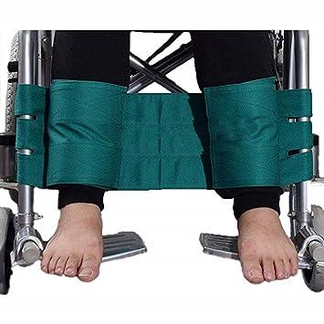 Cinturones de seguridad de silla de ruedas correas de sujeción pacientes Cares arnés cinturón silla asiento cintura correa de regazo para ancianos,Green: ...