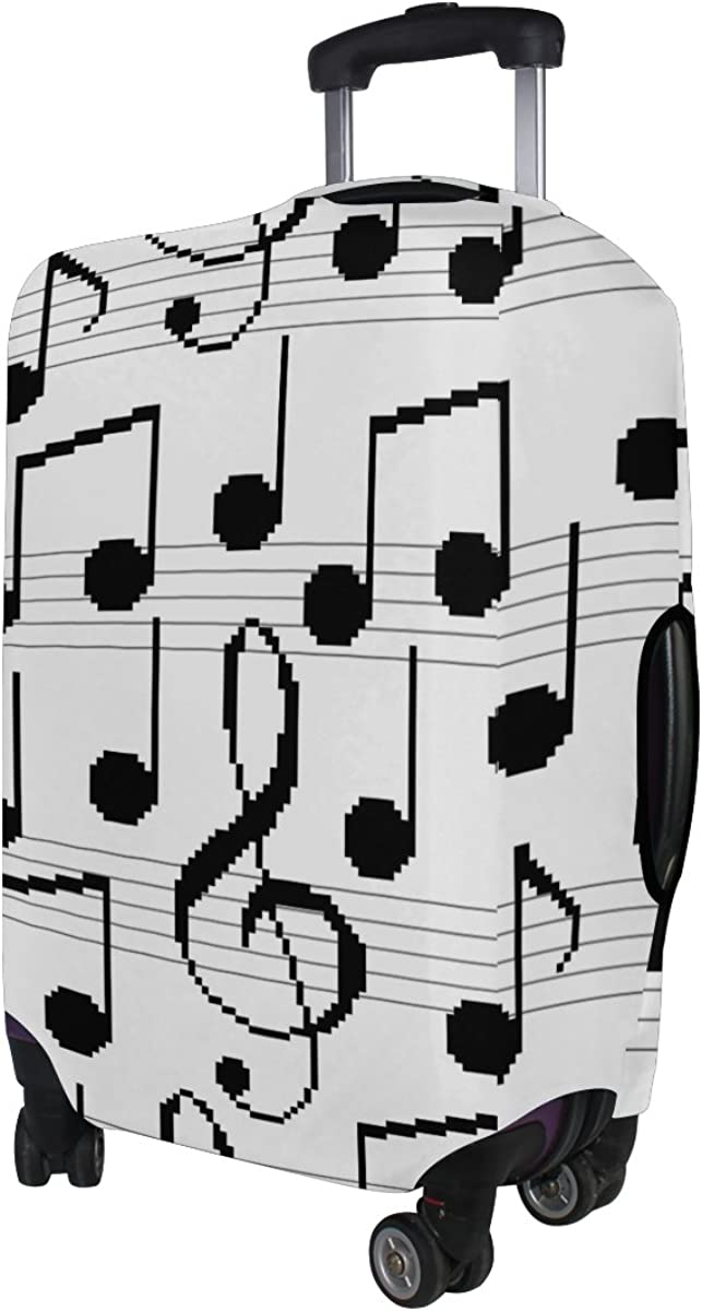 GIOVANIOR Retro Music Notes Luggage Cover Suitcase Protector Carry On Covers