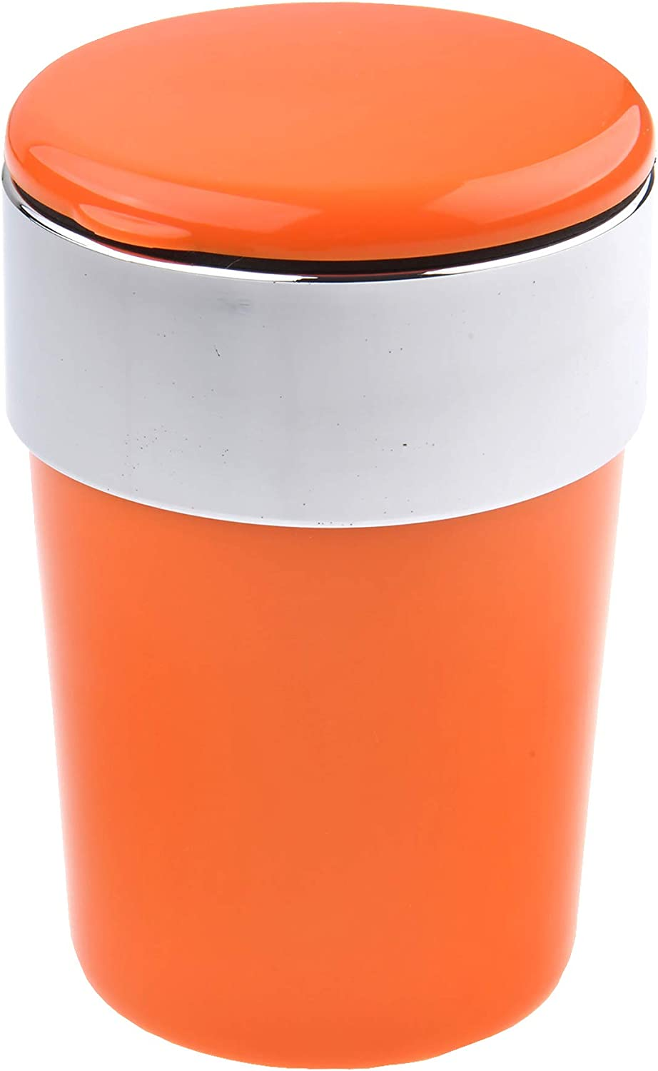 Mod with lid and Illumination Quantum Abacus Round Car Ashtray//Windproof Ashtray Made of Steel and ABS Polymer Colour: Orange 1892-05 Suitable for Cup Holders in The car