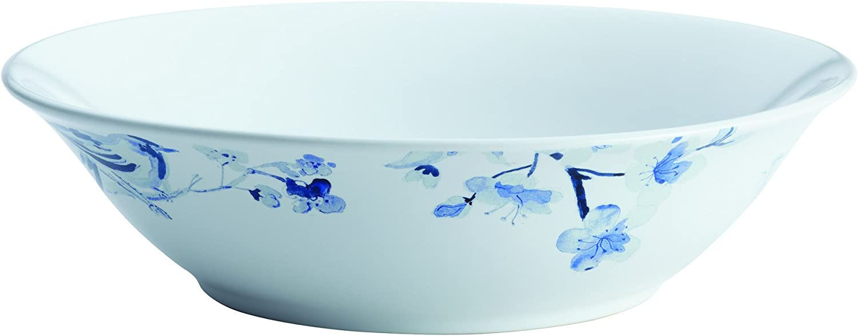 Paula Deen Dinnerware Indigo Blossom 10-Inch Stoneware Round Serving Bowl, Print