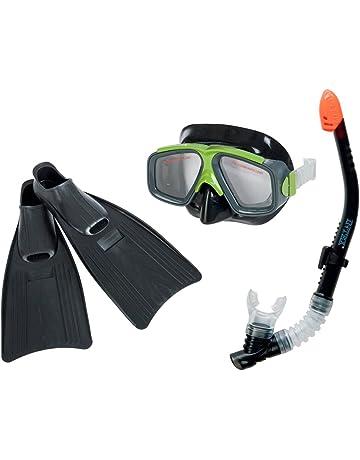 Hydro-Pro Kit de plong/ée avec Masque et Tuba pour Adulte Unisexe Multicolore 38-39