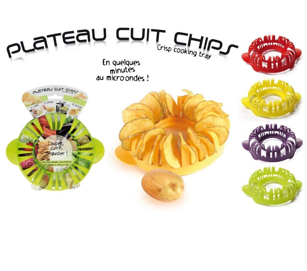 Plato para hacer patatas fritas en el microondas, plástico, 15,5 ...