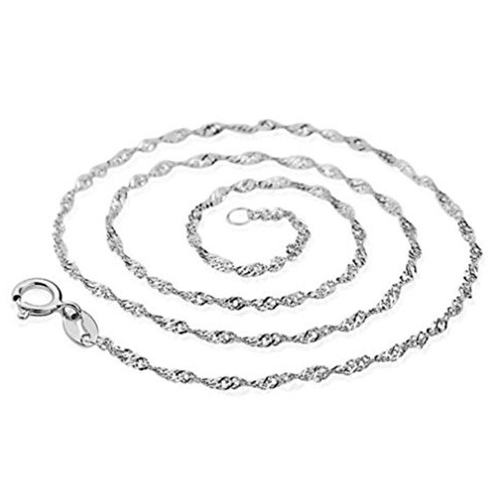 Necklace,Baomabao Necklace Wave chain of women's Silver jewelry