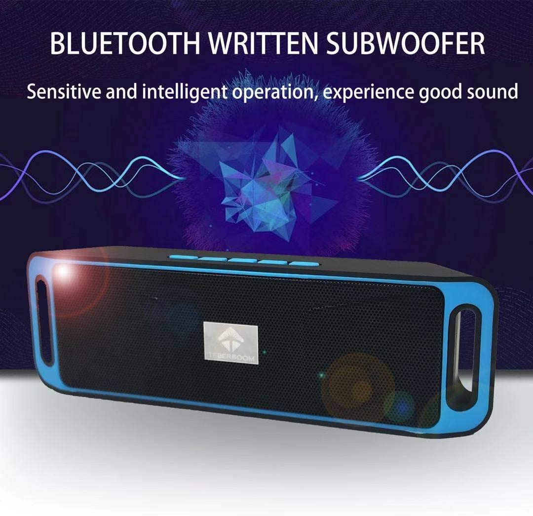 6W Dual-Driver red TEBERBOOM S208 2018 best bluetooth speaker Portable Wireless Bluetooth Speaker outdoor Bluetooth 4.2 Stereo Speaker with 24-Hour Playtime Low Harmonic Distortion