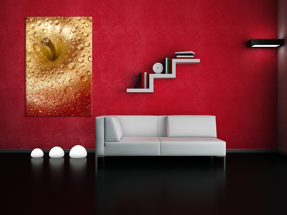 fruit Wall Art Print.- Golden Apple - LED wall art