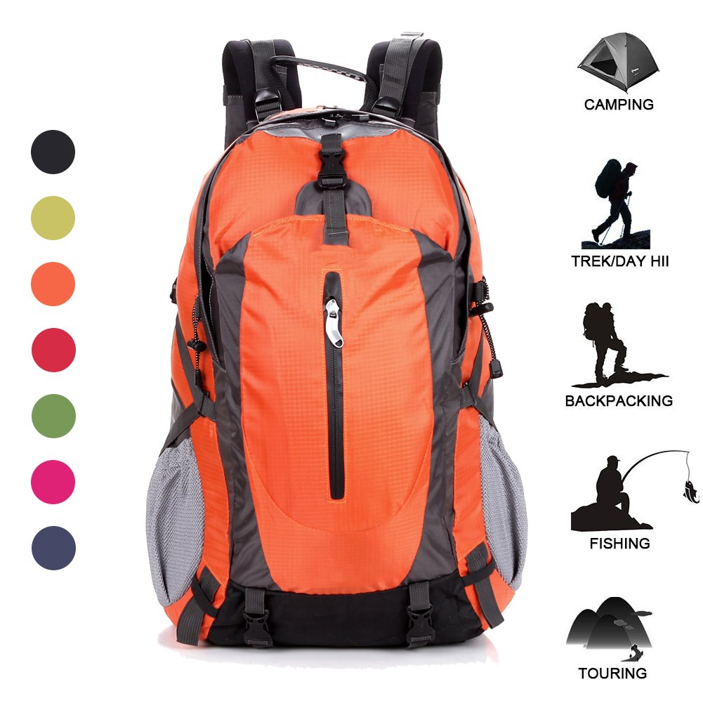 5c171e1f83 50L Outdoor Hiking Backpack Nylon Waterproof Mountaineering Climbing  Camping Cycling Bag By BODFY low-cost
