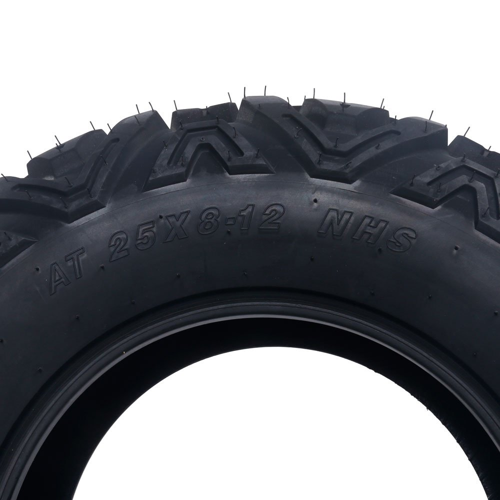 Motorhot Set of 4 Mud Terrain ATV Tires 25x8-12 /& 25x10-12 6PLY Front/&Rear Spare Tire Replacement