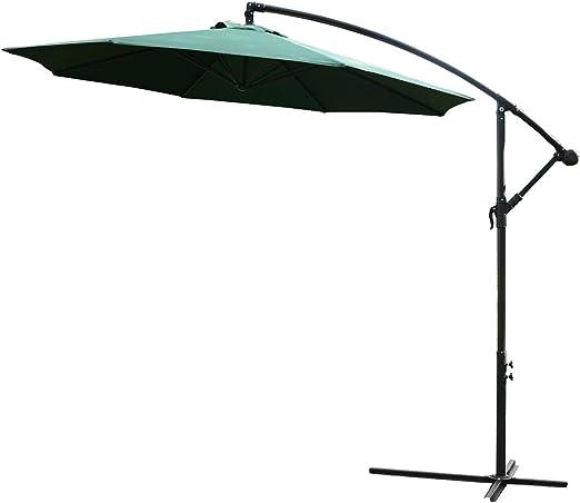 Outsunny Sombrilla Reclinable de Jardín o Patio Parasol para ...
