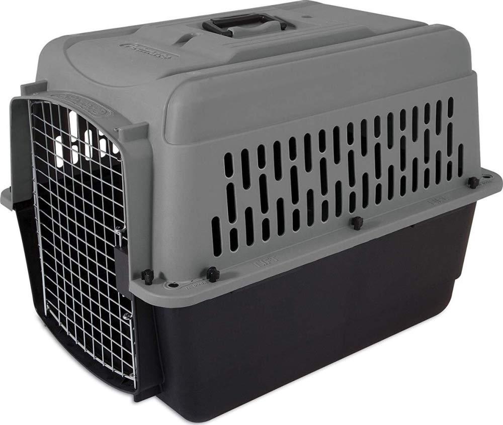 Aspen Pet Porter Heavy-Duty Pet Carrier,Dark Gray/Black,25-30 LBS by Petmate