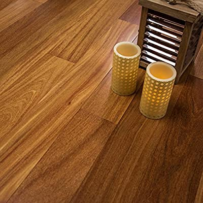 "Brazilian Teak Prefinished Engineered 5"" x 1/2"" Wood Flooring w/3mm Wear Layer Samples at Discount Prices by Hurst Hardwoods"