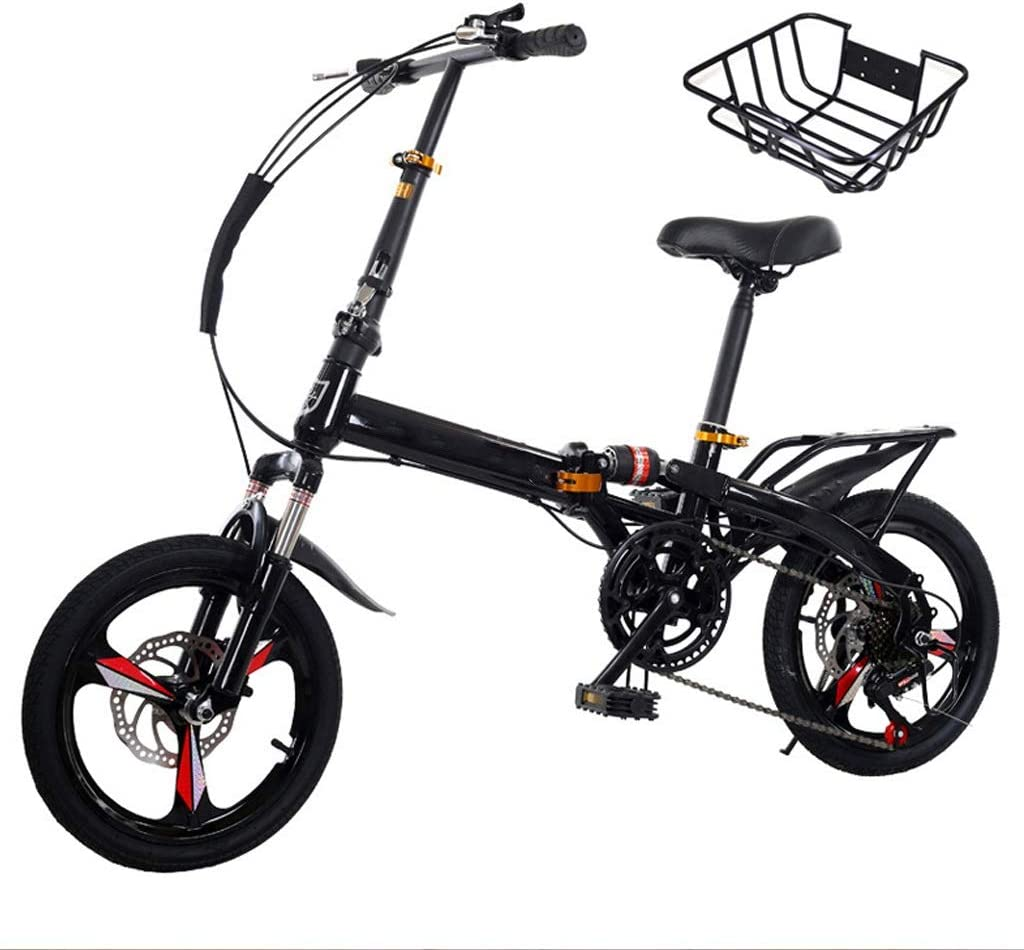 TXTC Variable Ligera Velocidad Bici Plegable, Bicicleta Mujer Ligero, Bici Urbana, Absorción con Doble Choque Y El Doble Disco De Freno For Los Adultos Hombres De Las Mujeres Estudiantes De Ciclo: Amazon.es: