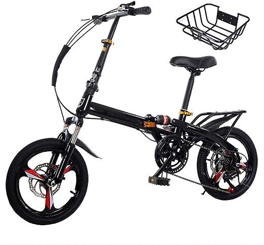 TXTC Variable Ligera Velocidad Bici Plegable, Bicicleta Mujer ...
