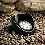 Kichler Lighting 15729BKT Landscape Cast Aluminum 9-Light LED 10-Degree Adjustable Well Light with Optic Diffuser, 12-volt/12.4-watt, Textured Black by Kichler Lighting