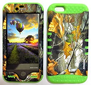 CellTx Shockproof Hybrid Case For Apple (iPhone 6) and Stylus Pen, Green Soft Rubber Skin with Hard Cover (Camouflage, Camo, Forest, Dry Leaves) AT&T, T-Mobile, Sprint, Verizon, Boost Mobile, U.S Cellular, Cricket by Maris's Diary