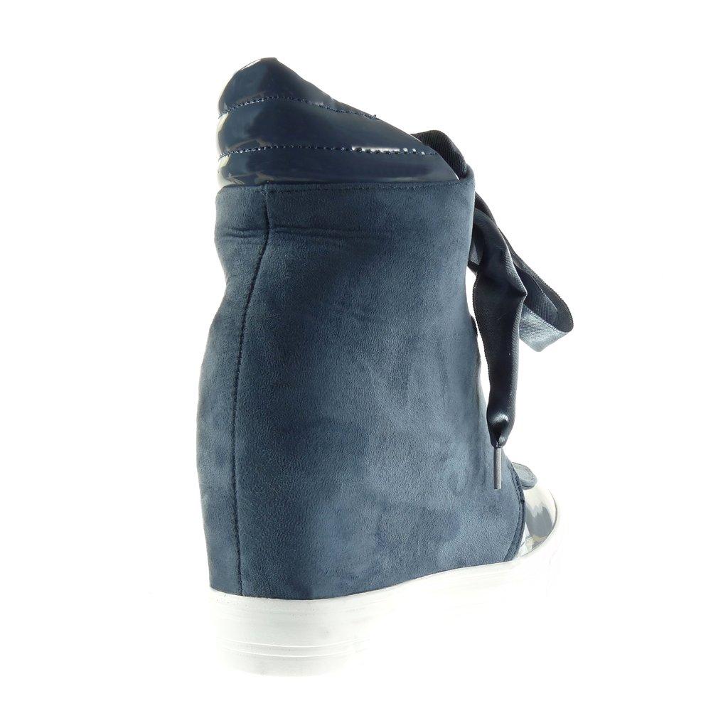 Angkorly Scarpe Moda Sneaker Zeppa Classic Donna Lucide Tacco Zeppa  Piattaforma 7 cm  Amazon.it  Scarpe e borse 30a62a95f43