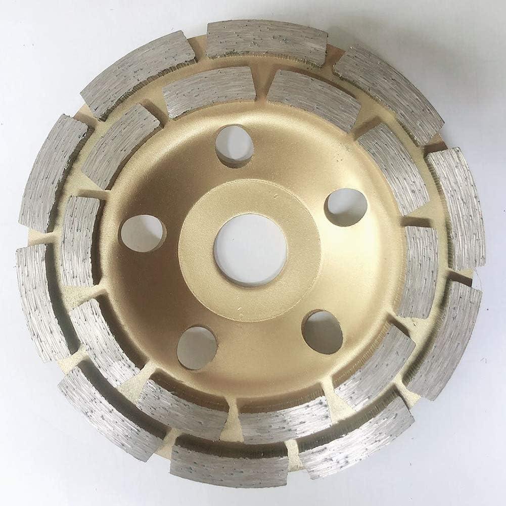 VerneAnn Meule de meulage mural en granit Pierre de diamant Coupe gain de temps B/éton Ma/çonnerie M/étal Forme de disque Double w Outils Fraise Abrasifs 125 mm