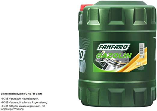 1 X 20l Fanfaro Gazolin 10w 40 Api Sg Cd Universal Engine Oil Lpg Npg Auto