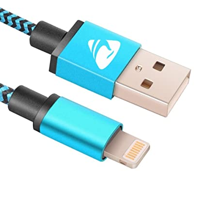 Amazon.com: iPhone cargador, cable Lightning Nylon Trenzado ...