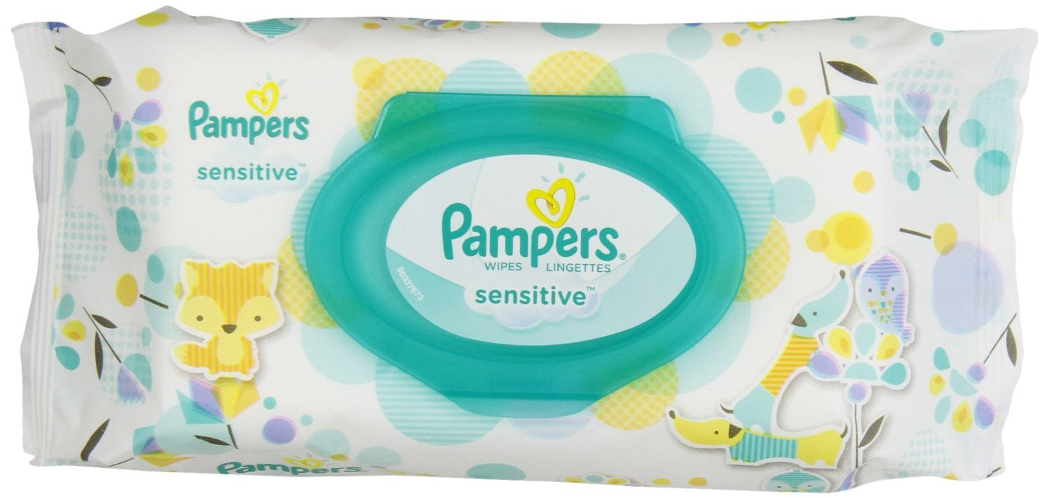 Pampers Baby Wipes Sensitive UNSCENTED 1X Pop-Top, 56 Count -5664