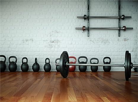 Amazon.com : leowefowa 9x6ft gymnasium backdrop interior fitness
