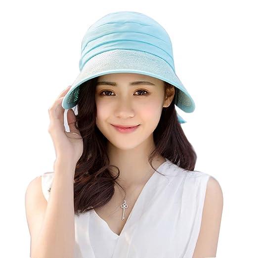 239c5999 UV Protection Packable Sun Visors for Women with Ribbon Bow Sun Visors for  Women Wide Brim