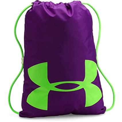 1a394876a8 Under Armour Ozsee Elevated Glow Sackpack,Purple Rave /Quirky Lime, One Size