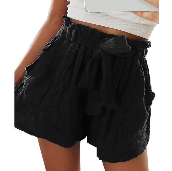 5f529eb04d Pantalones Cortos Mujer Verano Pantalones Cortos Mujer Cintura Alta Pantalones  Cortos Mujer Comodos AIMEE7 Pantalones Anchos Mujer Verano Pantalones Cortos  ...