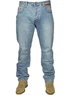 88b846ae35a92 Eto Mens Latest Straight Leg Stylish Jeans EM549 in Blue Stone WASH RRP  £44.99